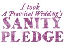 Featured on 'I took a practical wedding's SANITY PLEDGE