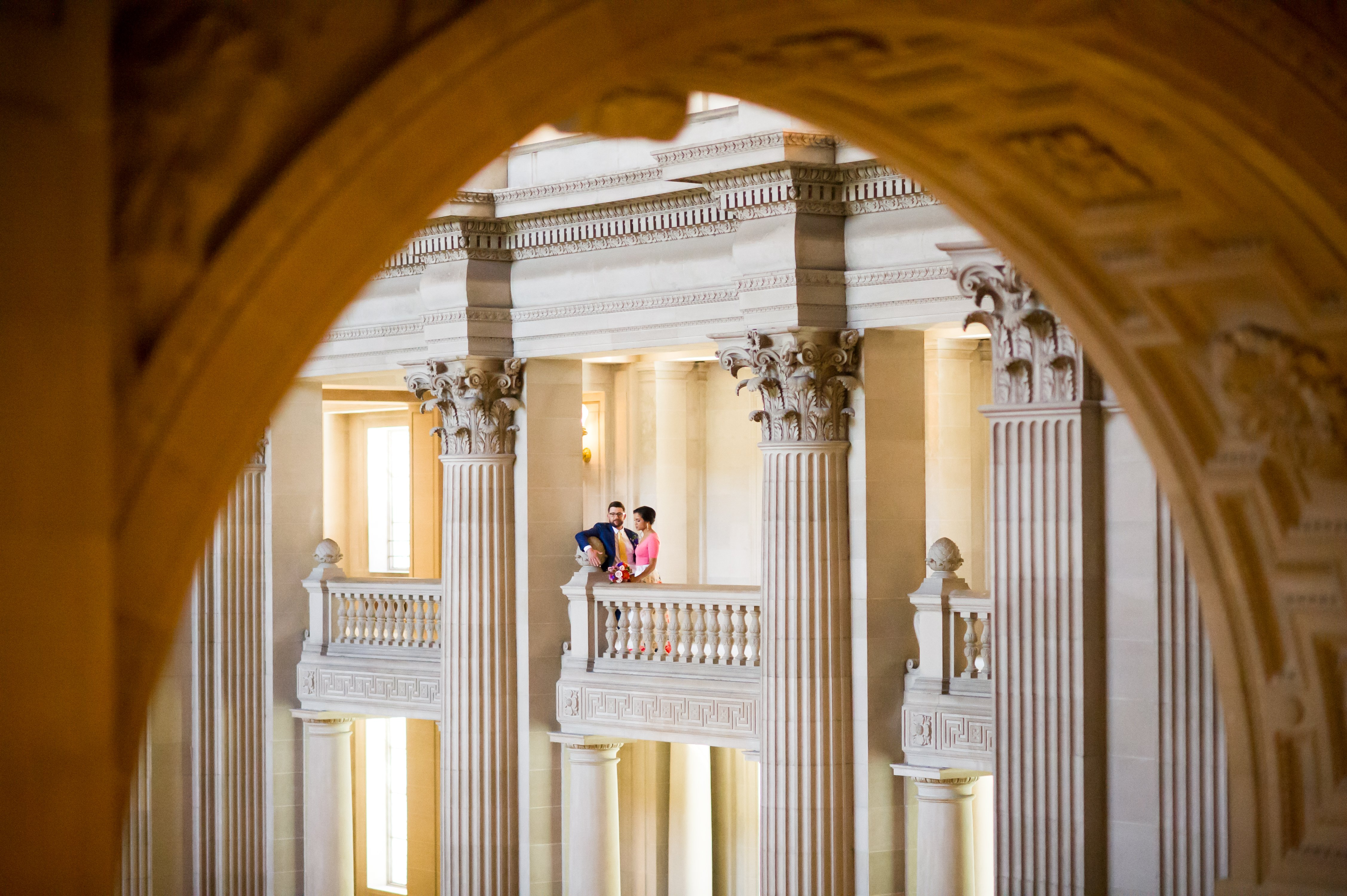 A Sweet Alternative Wedding Dress and a San Francisco City Hall Wedding