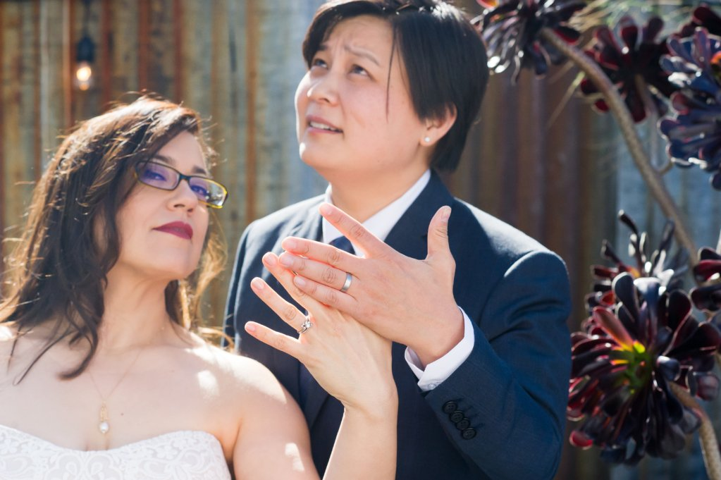 Modern Lesbian Wedding Rings