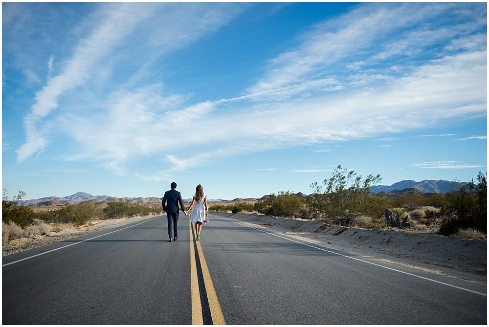 romance desert wedding sky photo