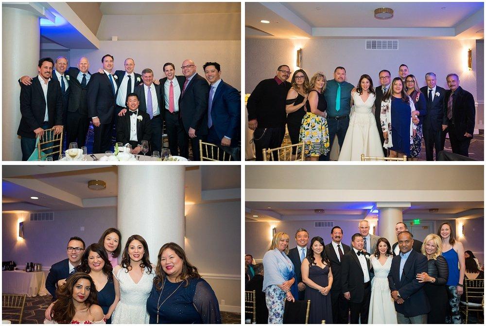 Group photos at claremont hotel wedding