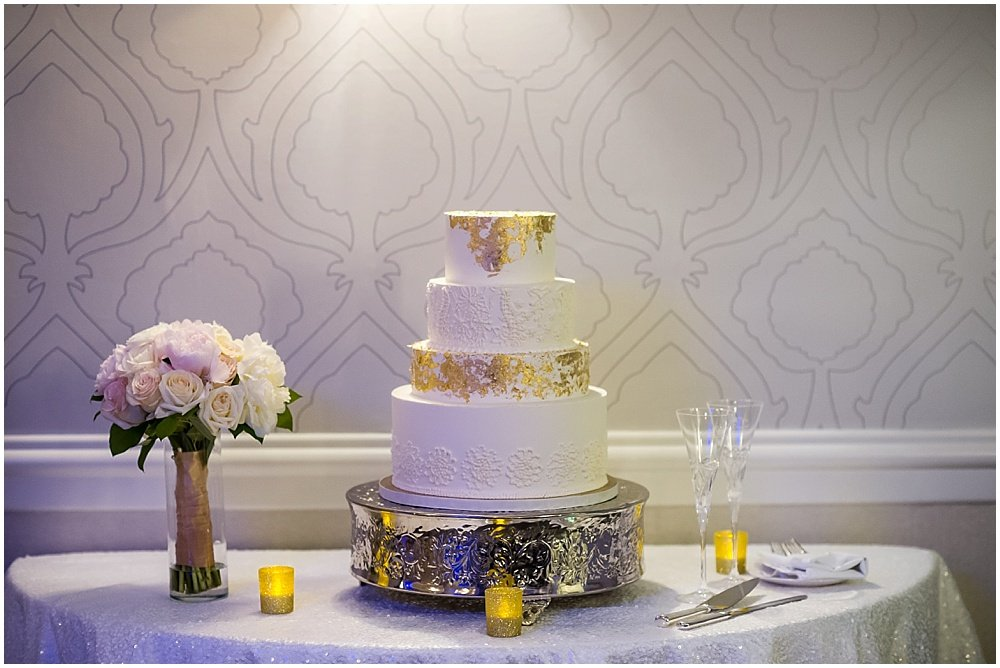 Wedding cake glamour shot baked by Pretty Please Bake Shop at claremont hotel wedding