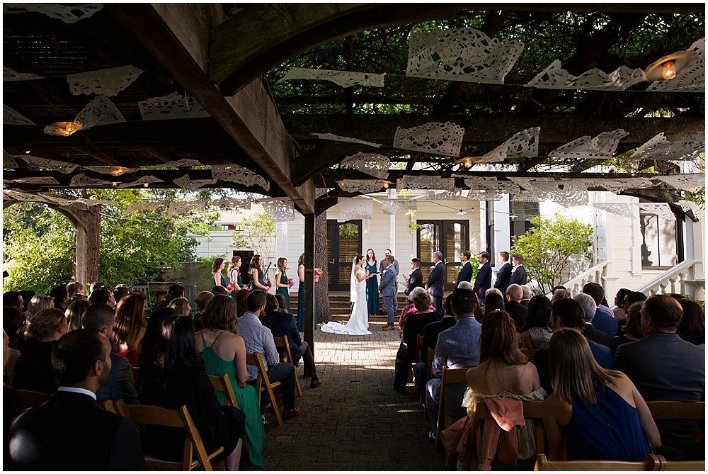 Wide shot of wedding at General's Daughter Wedding