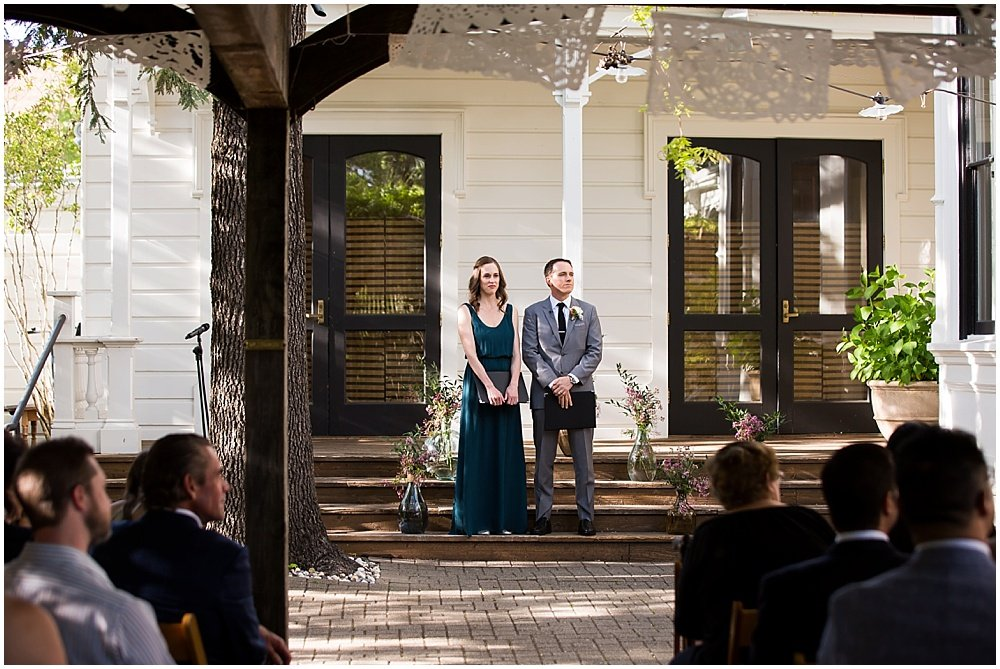 Officiants at the General's Daughter Wedding