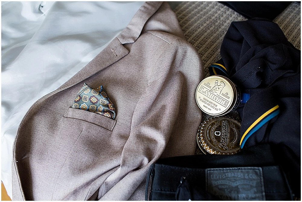groom suit details at the commissary wedding in san francisco