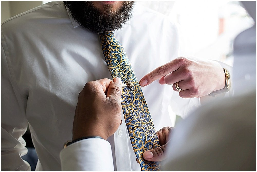 groom tie details at the commissary wedding in san francisco