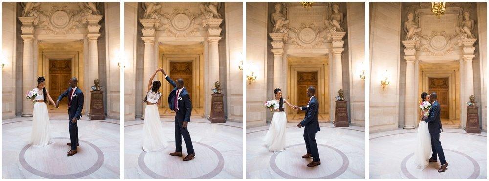 Twirl at at San Francisco City Hall Small Wedding