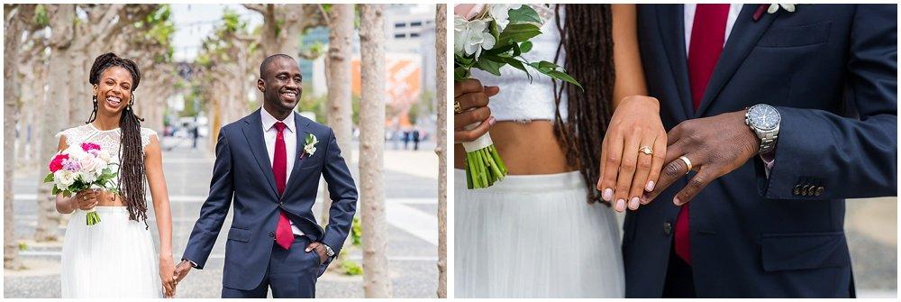 Ring close up at San Francisco City Hall Small Wedding