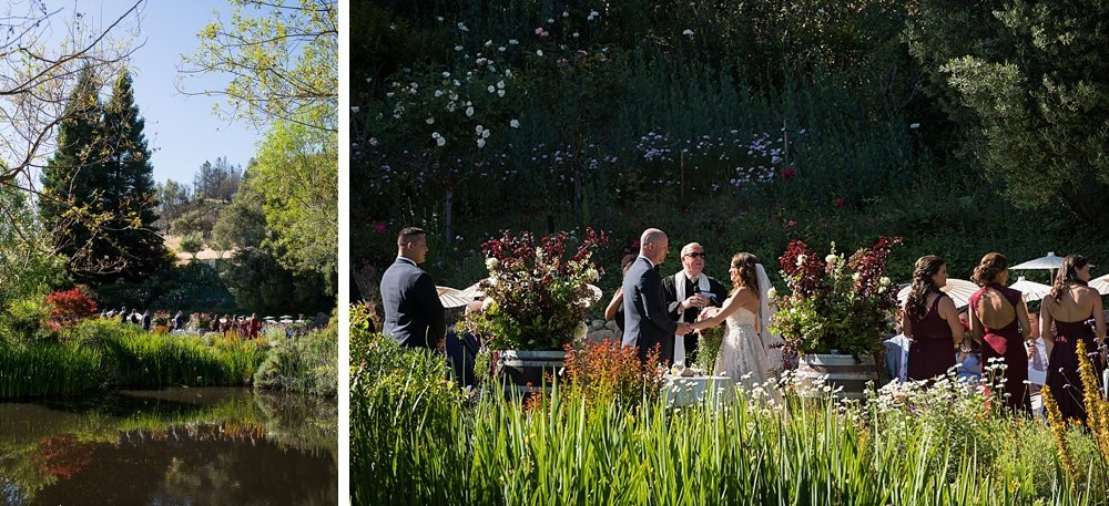 Wide shots of hans fahden winery wedding venue