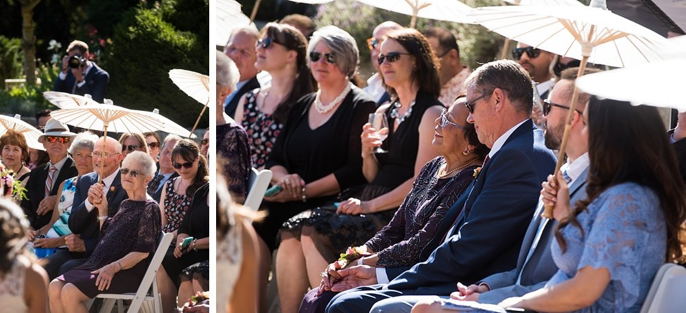 parents and guests look on adoringly during hans fahden winery wedding