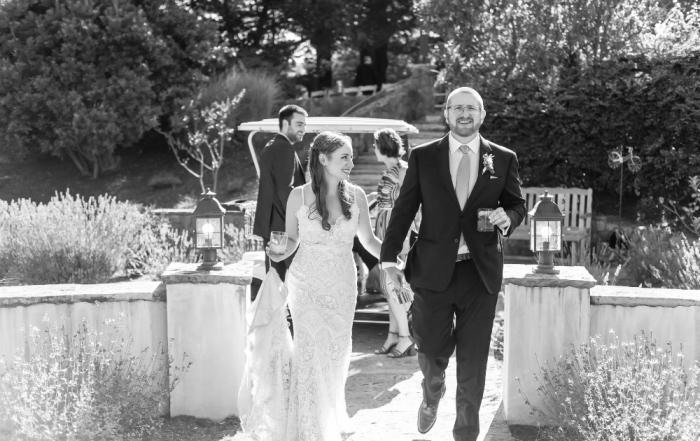 Bride and groom portrait at midsummer sebastopol wedding by chloe jackman photography