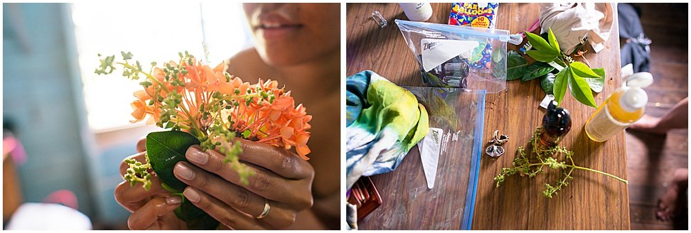 Hair piece arrangements for the bride's Traditional Fijian Wedding by Chloe Jackman Photography