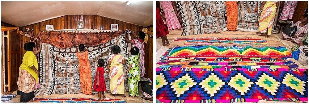 traditional Fijian wall decor at Traditional Fijian Wedding By Chloe Jackman Photography