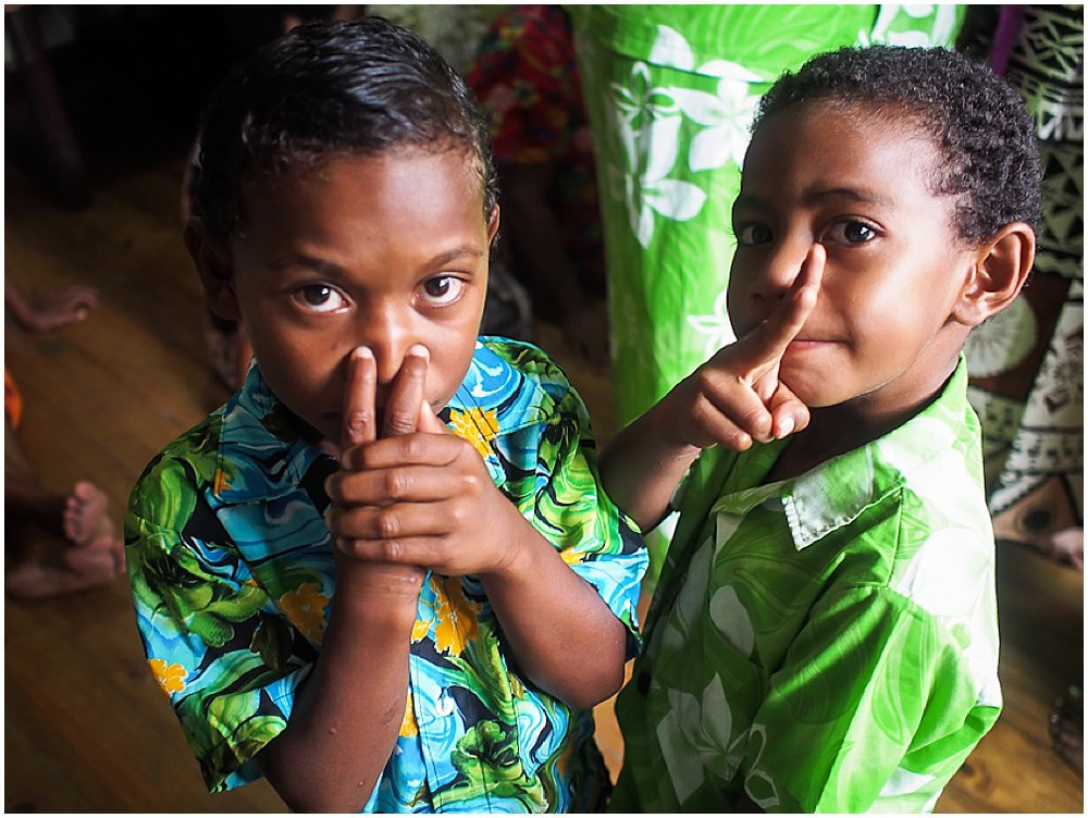 Two children dressed up for the Traditional Fijian Wedding by Chloe Jackman Photography