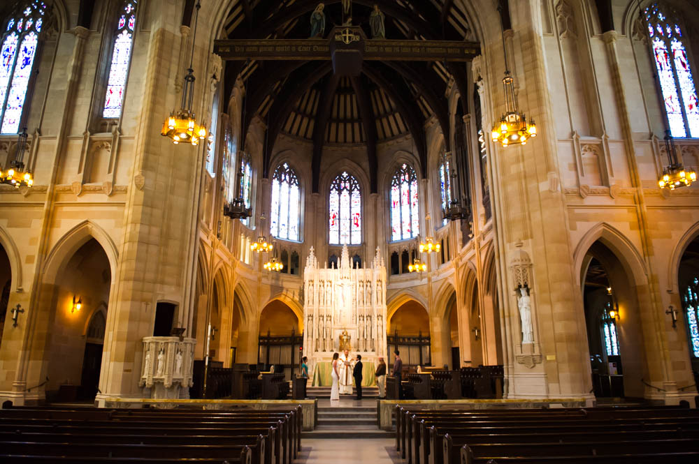 Inside of Saint Dominic's Church in San Francisco