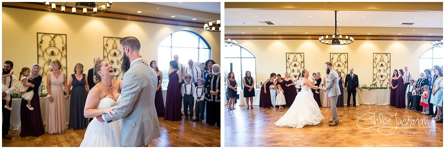 bride and groom's first dance at Garre Winery Wedding in Livermore