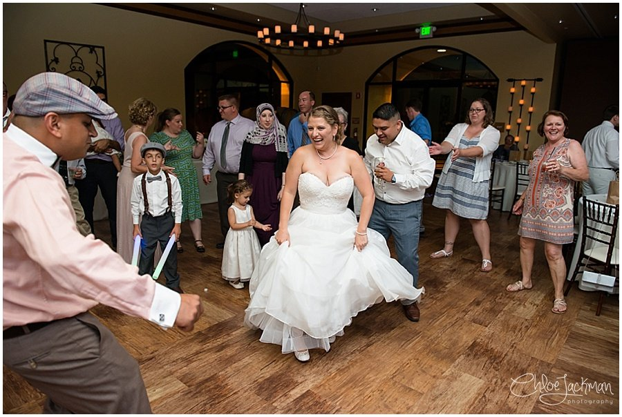 bride dancing at Garre Winery Wedding in Livermore