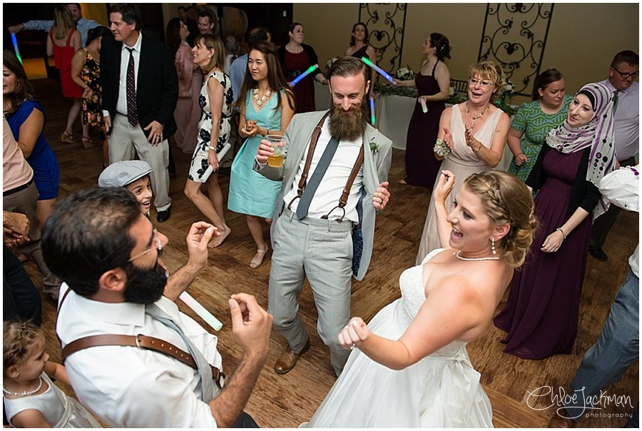 bride and groom dancing at Garre Winery Wedding in Livermore
