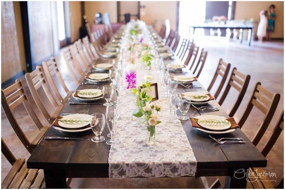 table setting by Simple Country Weddings