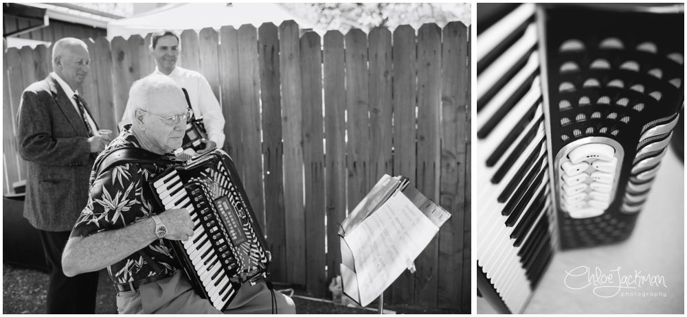 Dave Chelini playing the accordian