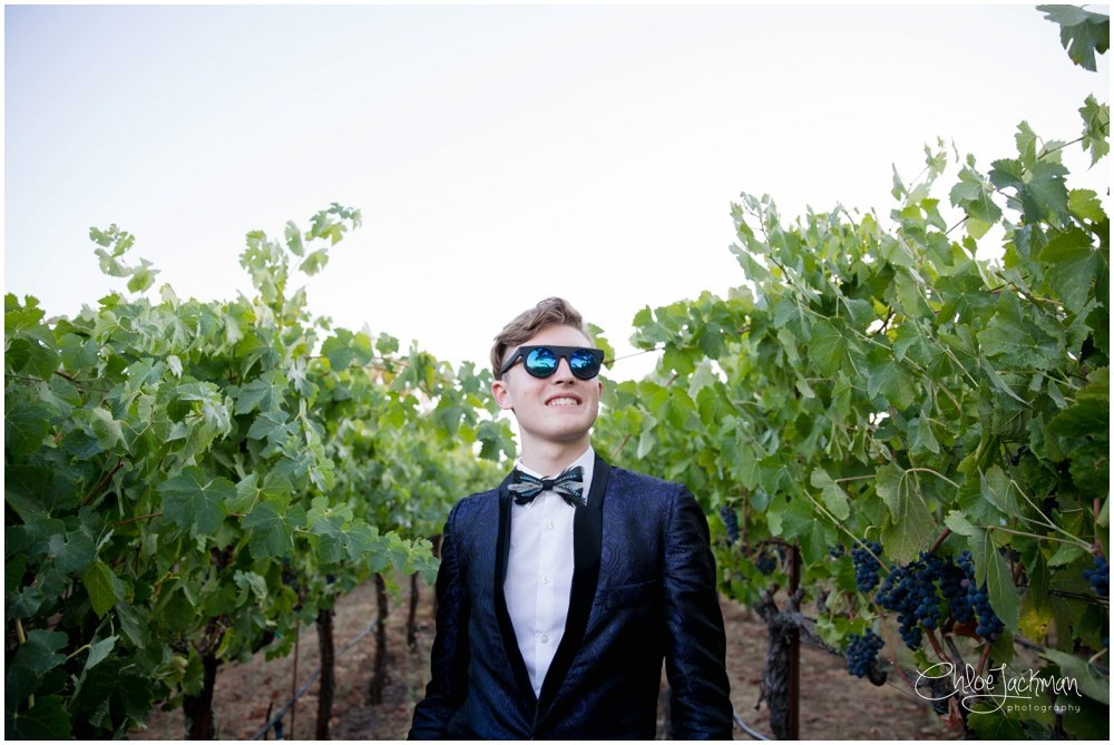 stylish teenager in the grape vines