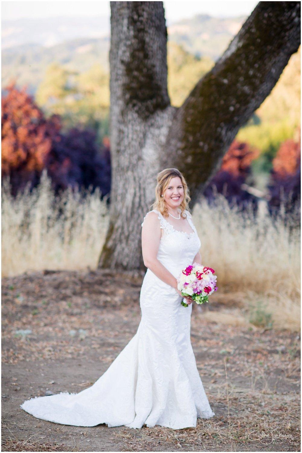 bride at highlands estate wedding