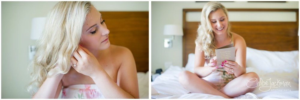 bride with makeup and hair done by Carrie Aldous