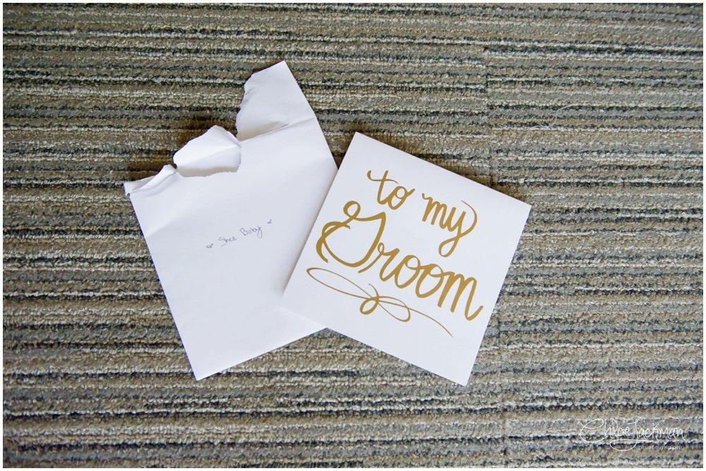 wedding card to the groom