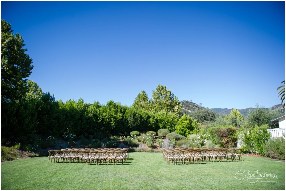 outdoor solage calistoga wedding