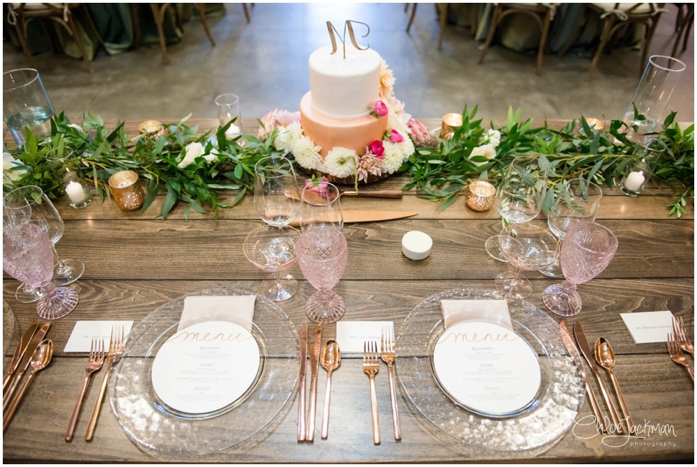 table with wedding cake by Pattiserie Angelica