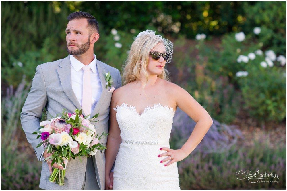 bride in Tara Keely wedding dress with groom