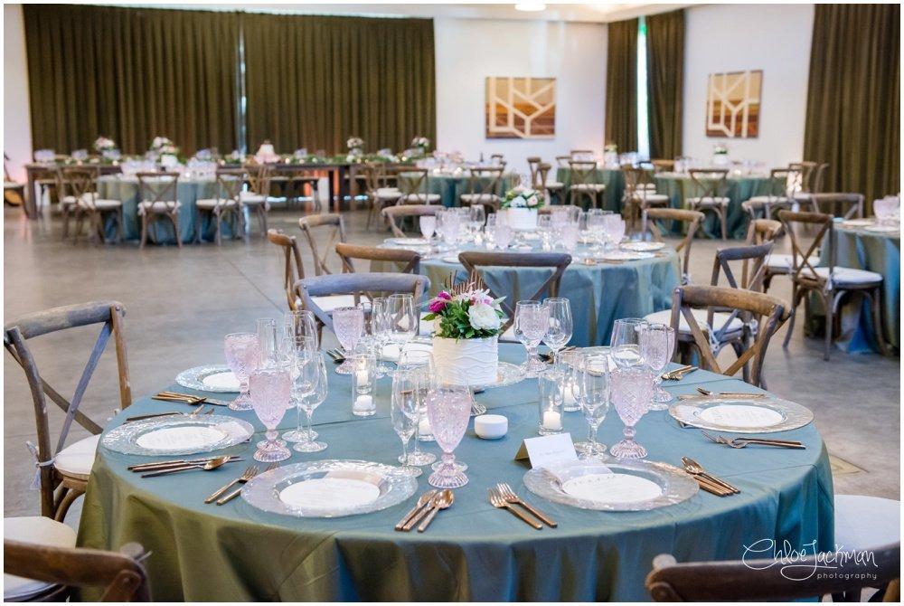 interior of solage calistoga wedding