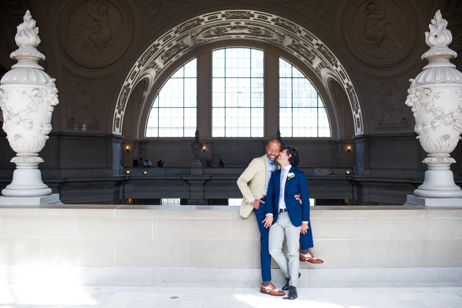 A Lovely Day for a San Francisco City Hall Wedding | Collin & Brian