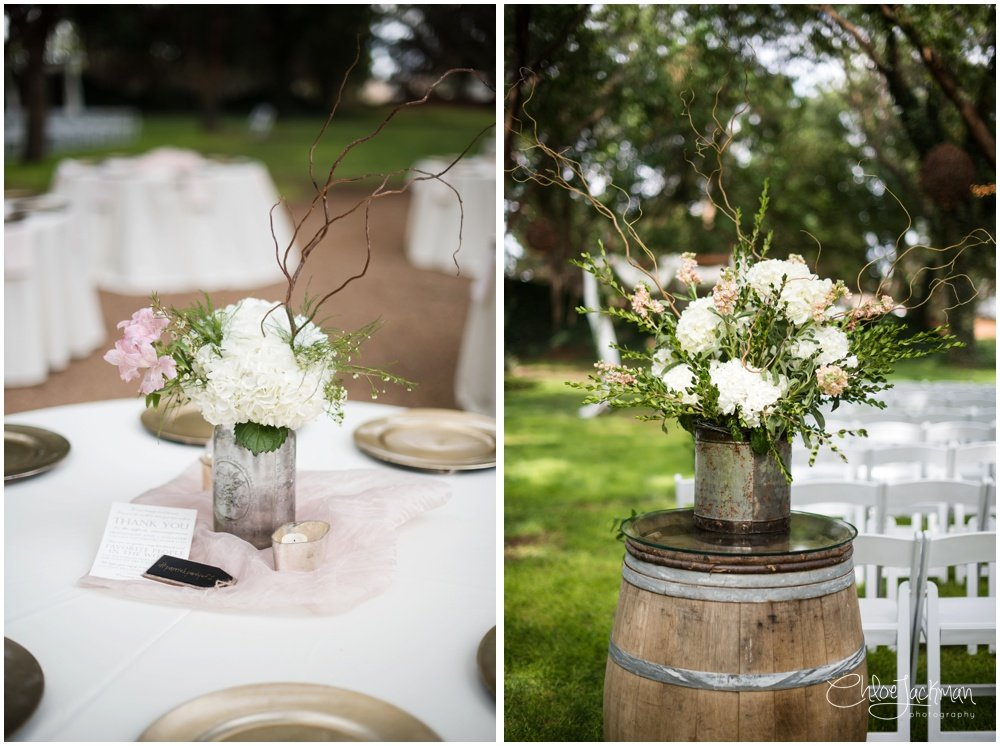 table settings at fulford barn wedding in texas