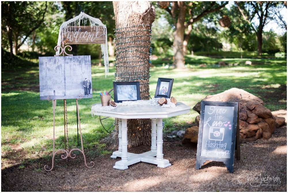 wedding welcome signs at fulford barn wedding in texas