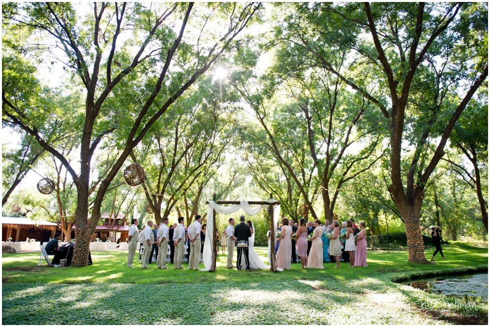 wedding altar at fulford barn wedding in texas
