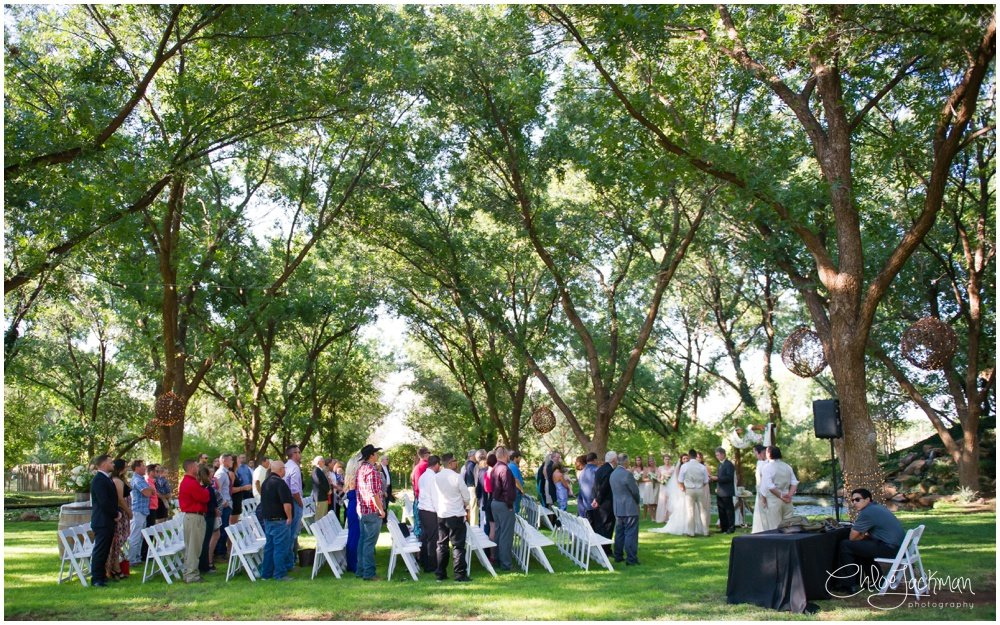wedding guests during ceremony
