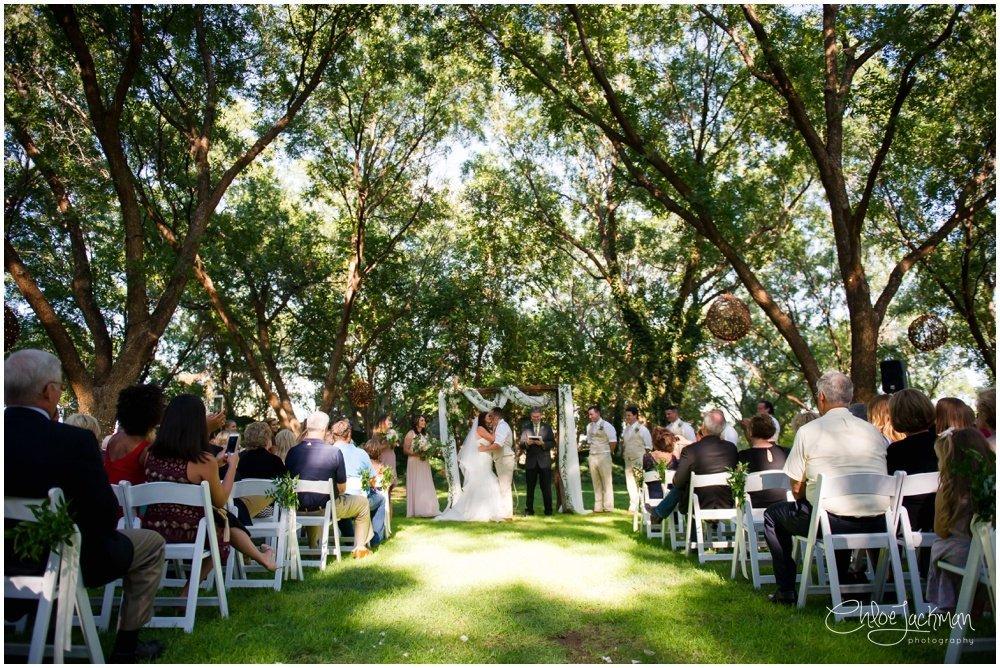 wedding altar at fulford barn wedding in texas