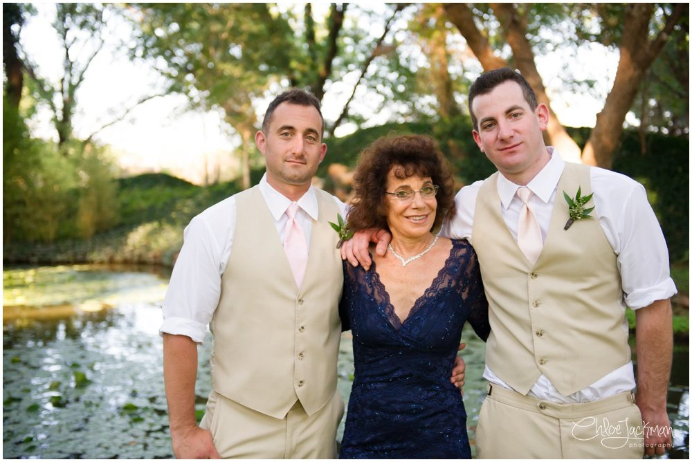 groom and family