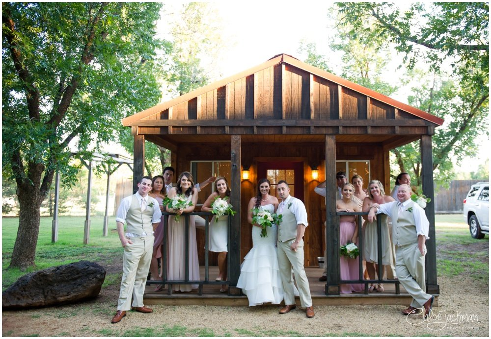 bridal party at fulford barn wedding in texas