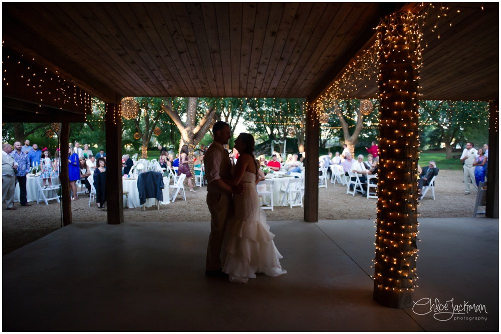 bride and groom first dance at fulford barn wedding in texas