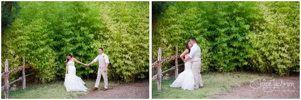 bride and groom outside at bride and father dance at fulford barn wedding in texas