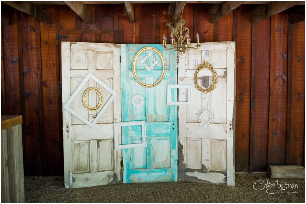 doors used as wedding details