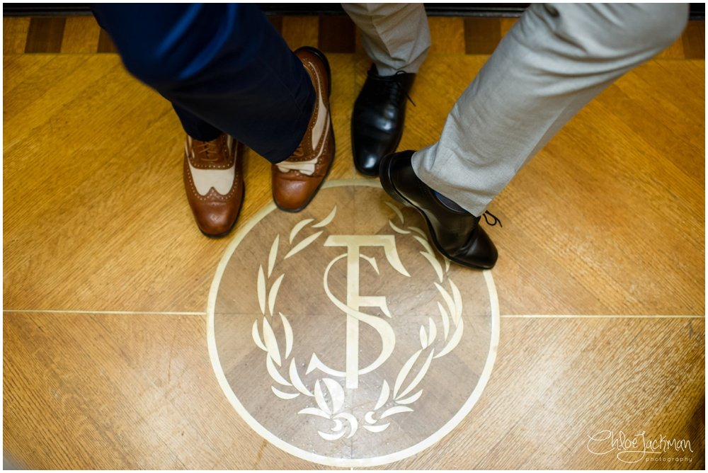 shoes on the san francisco city hall logo
