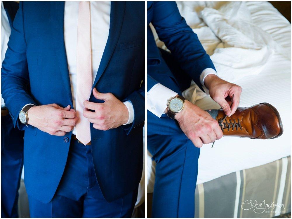 groom tux details