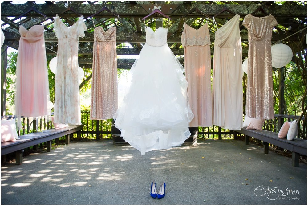 Hayley Paige wedding dress hanging
