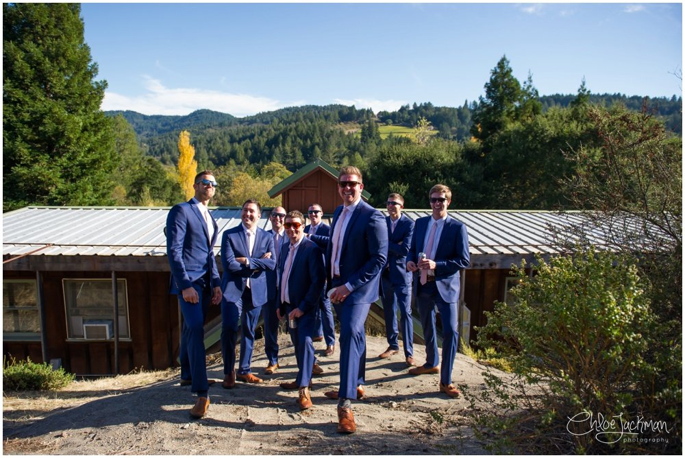 groom and groomsmen at hans fahden wedding in calistoga