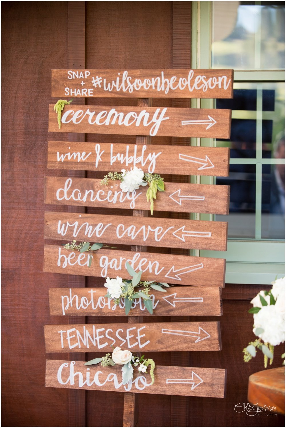 wedding signage by hand and heart event design