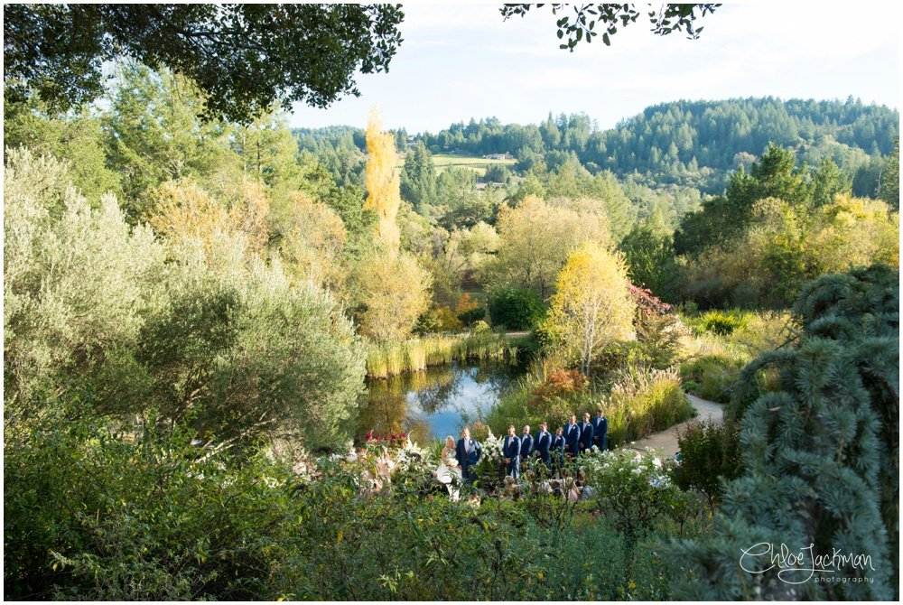outdoor hans fahden wedding in calistoga