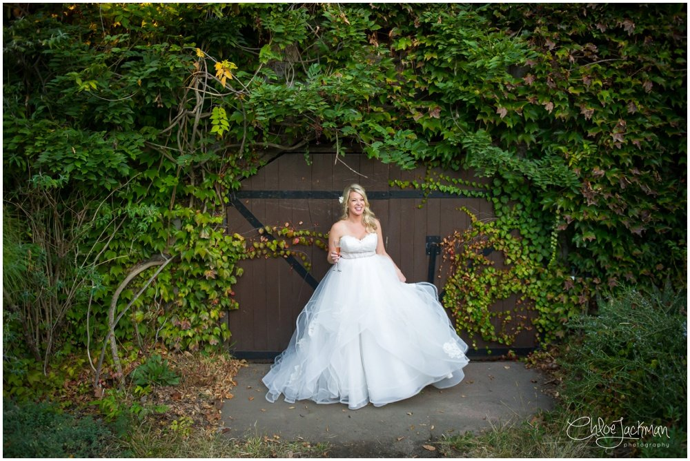 bride wearing Hayley Paige wedding dress